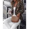 Long Sleeve Leopard Printed Blazer