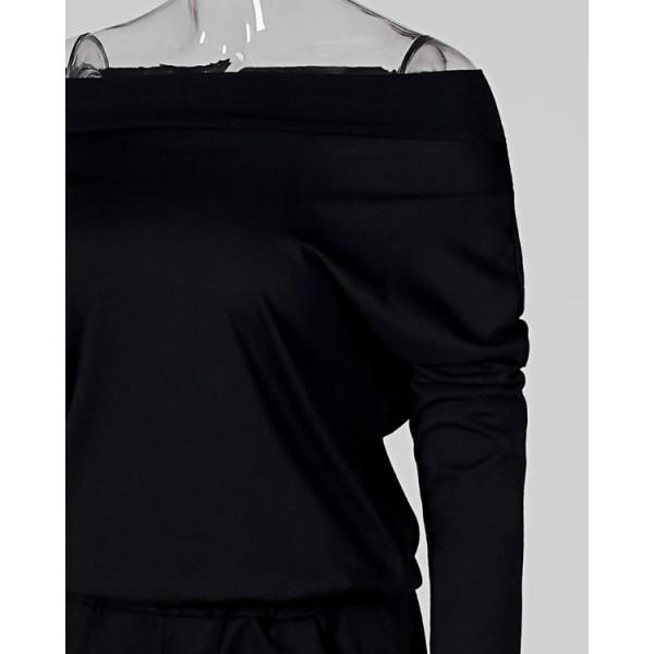 Off Shoulder Bat-Wing Sleeve Jumpsuits