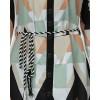 Colorblocked Geo Print Asymmetrical Casual Dress