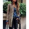 Leopard Print Long Sleeve Casual Longline Coat